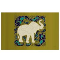 The Softer Side by Weather Guard™ 23-Inch x 36-Inch Elephant Kitchen Mat in Green