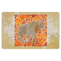 The Softer Side by Weather Guard™ 18-Inch x 27-Inch Elephant Kitchen Mat in Orange