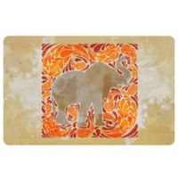The Softer Side by Weather Guard™ 23-Inch x 36-Inch Elephant Kitchen Mat in Orange