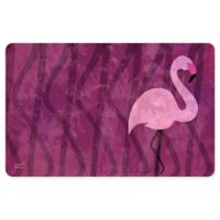 The Softer Side by Weather Guard™ 23-Inch x 36-Inch Pink Flamingo Kitchen Mat