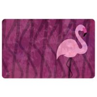 The Softer Side by Weather Guard™ 18-Inch x 27-Inch Pink Flamingo Kitchen Mat