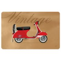 The Softer Side by Weather Guard™ 23-Inch x 36-Inch Vintage Vespa Kitchen Mat in Red