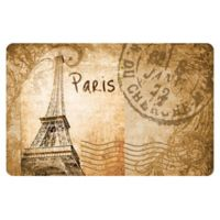 The Softer Side by Weather Guard™ 18-Inch x 27-Inch Eiffel Tower Parchment Kitchen Mat