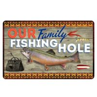 The Softer Side by Weather Guard™ 18-Inch x 27-Inch Family Fishing Kitchen Mat
