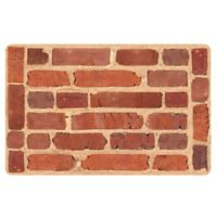 The Softer Side by Weather Guard™ 18-Inch x 27-Inch Framed Brick Kitchen Mat