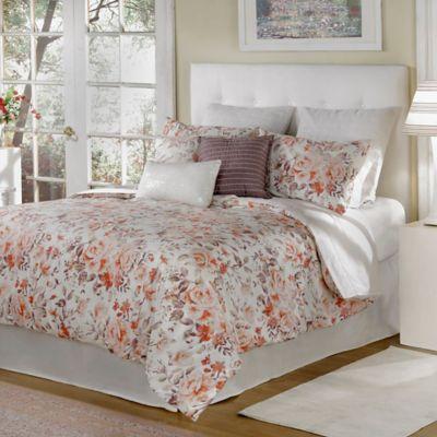 bed inc antoinette king comforter set in orange