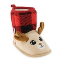 Capelli New York Size 6-12M Soft Reindeer Boot in Red/Plaid