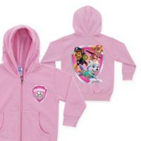 Nick Jr.™ PAW Patrol Rescue Pups Name Badge Size 2T Zip-Up Hoodie in Pink