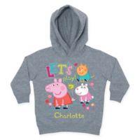 "Peppa Pig Size 2T ""Let's Play"" Toddler Hoodie in Grey"