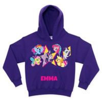 My Little Pony Cutie Marks Size 6/8 Pullover Hoodie in Purple (Personalized)