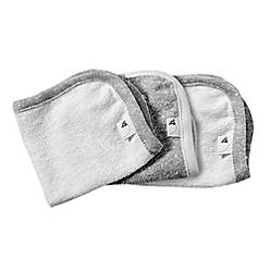 product image for Burt's Bees Baby® 3-Pack Organic Cotton Washcloths in Grey