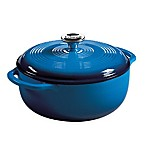 Lodge 4.5 qt. Enameled Cast Iron Dutch Oven in Blue