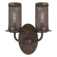 Savoy House Nouvel 2-Light Wall Sconce in Bronze with Metal Mesh Shade