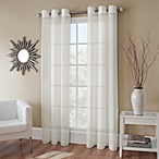 Crushed Voile 144-Inch Grommet Top Sheer Window Curtain Panel in Ivory