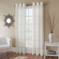 Crushed Voile 54-Inch Grommet Top Sheer Window Curtain Panel in Ivory