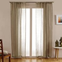 Open Weave Linen Sheer 108-Inch Rod Pocket Window Curtain Panel in Natural