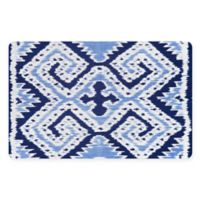 The Softer Side by Weather Guard™ 18-Inch x 27-Inch Ikat Wrap Kitchen Mat in Blue