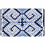 The Softer Side by Weather Guard™ 23-Inch x 36-Inch Ikat Wrap Kitchen Mat in Blue