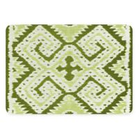 The Softer Side by Weather Guard™ 18-Inch x 27-Inch Ikat Wrap Kitchen Mat in Green