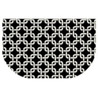 The Softer Side by Weather Guard™ 24-Inch x 40-Inch Interlink Kitchen Mat in Black