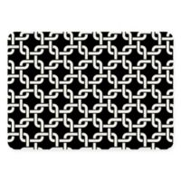 The Softer Side by Weather Guard™ 18-Inch x 27-Inch Interlink Kitchen Mat in Black