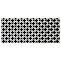 The Softer Side by Weather Guard™ 25-Inch x 60-Inch Interlink Kitchen Mat in Black
