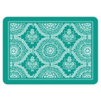 The Softer Side by Weather Guard™ 18-Inch x 27-Inch Deep Floral Kitchen Mat in Emerald