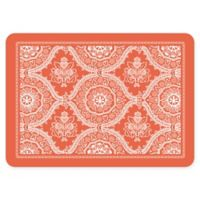 The Softer Side by Weather Guard™ 18-Inch x 27-Inch Deep Floral Kitchen Mat in Coral