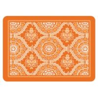 The Softer Side by Weather Guard™ 18-Inch x 27-Inch Deep Floral Kitchen Mat in Tangerine