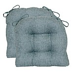 Jasper Tufted Chair Pad in Mineral (Set of 2)