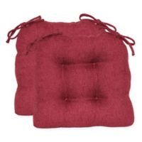 Jasper Tufted Chair Pads in Burgundy (Set of 2)
