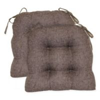 Jasper Tufted Chair Pads in Chestnut (Set of 2)