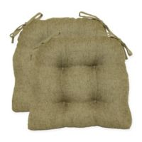 Jasper Tufted Chair Pads in Olive (Set of 2)
