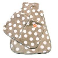 Gunamuna Gunapod® Size Small Plush Fleece Wearable Blanket with WonderZip® in Grey Dots