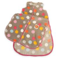 Gunamuna Gunapod® Size 0-9M Plush Fleece Multicolor Dots Wearable Blanket with WonderZip®