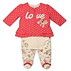 Baby Starters® Size 3M Sock Monkey 3-Piece Toile Pant, Cardigan and Bodysuit Take Me Home Set