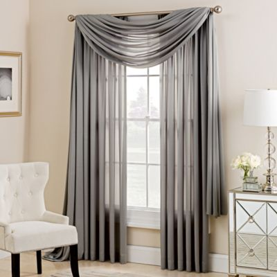Charlotte Window Scarf Valance In Silver Part 83
