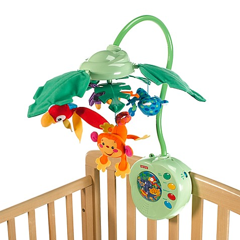 fisher price rainforest peek a boo leaves musical mobile. Black Bedroom Furniture Sets. Home Design Ideas