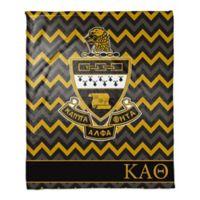 Kappa Alpha Theta Greek Sorority 50- x 60-inch Throw Blanket in Black