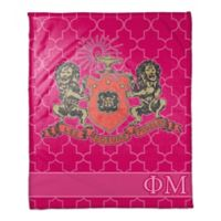 Phi Mu Greek Sorority 50- x 60-inch Throw Blanket in Pink