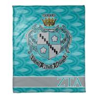 Zeta Tau Alpha Greek Sorority 50- x 60-inch Throw Blanket in Aqua