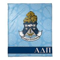 Alpha Delta Pi Greek Sorority Throw Blanket in Blue