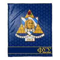 Phi Sigma Sigma Greek Sorority Throw Blanket in Blue