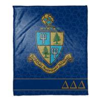 Delta Delta Delta Greek Sorority Throw Blanket in Blue