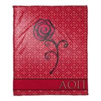 Alpha Omicron Pi Greek Sorority Throw Blanket in Red