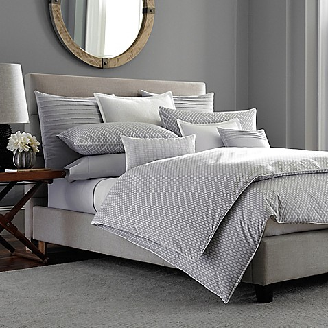 Barbara Barry 174 Ascot Duvet Cover In Smoke Bed Bath Amp Beyond