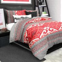 Nevada Twin Duvet Cover Set in Red