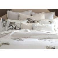 Barbara Barry Melody Line European Pillow Sham in Zinc