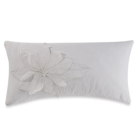 Barbara Barry Melody Voile Oblong Throw Pillow In Ivory