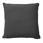 Nevada Key Knit European Pillow Sham in Grey